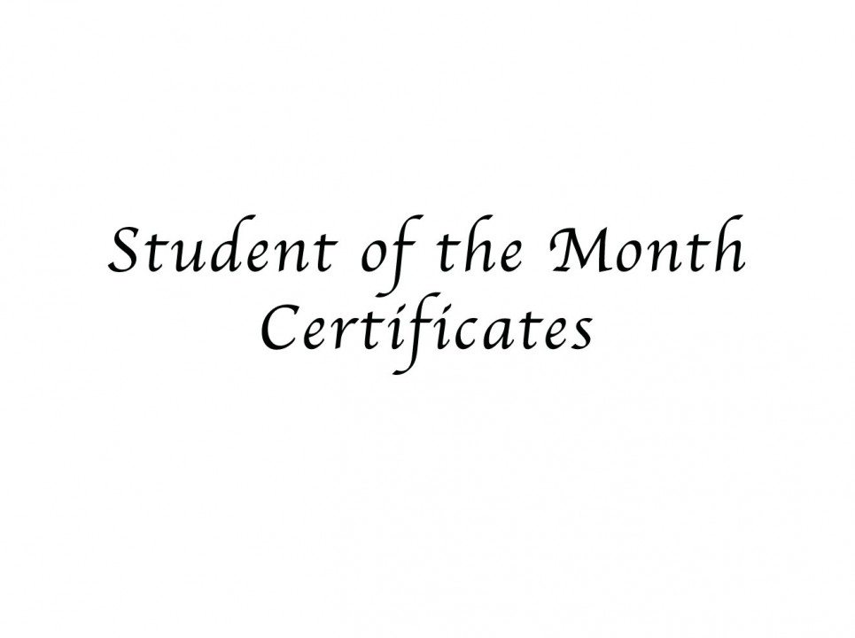 student of the month certificates ida b wells preparatory